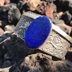 Chimney Butte Sterling Silver Lapis Cuff Bracelet